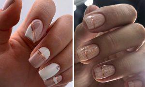 Pomysły na kremowe paznokcie - 15 propozycji