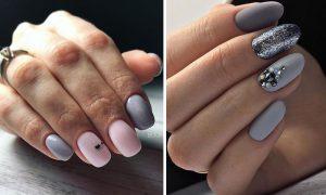 Szary manicure - 14 najmodniejszych pomysłów