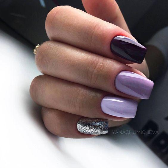 Wrzosowy manicure