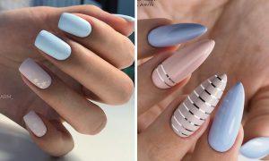 Błękitne paznokcie - TOP 13 pomysłów