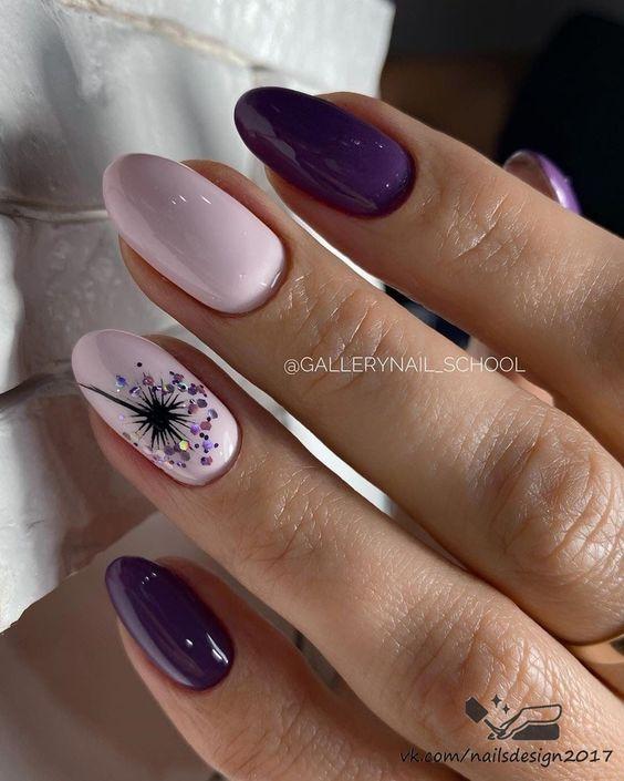 Fioletowe paznokcie na wiosnę