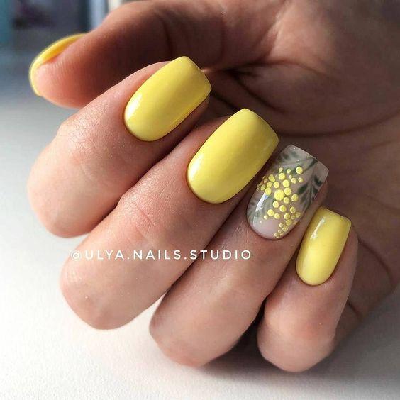 Żółty manicure na wiosnę