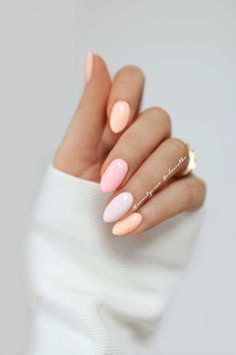 Brzoskwiniowy manicure na wiosnę