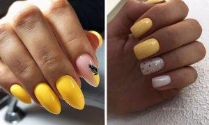 Inspiracje na żółte paznokcie - TOP 14 pomysłów