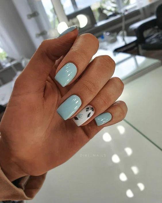 Szare kwadratowe paznokcie
